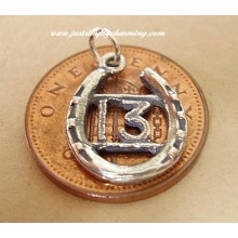 Sterling Silver Charms - 13 In Horseshoe Charm