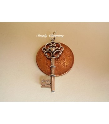 Sterling Silver Charms - 18 Key Charm or Pendant