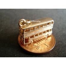 Double Decker Bus 9ct Gold Charm