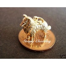 Collie Dog 9ct Gold Charm