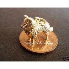 Collie Dog 14ct Gold Charm