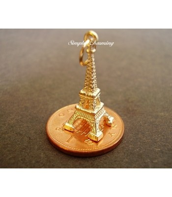 Eiffel Tower 14ct Gold Charm