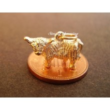 Highland Cow 14ct Gold Charm