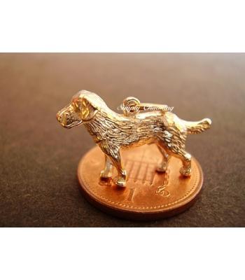 Labrador Dog 9ct Gold Charm