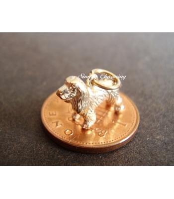 Spaniel Dog 9ct Gold Charm