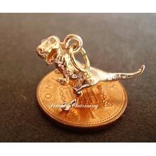 T rex Dinosaur 9ct Gold Charm