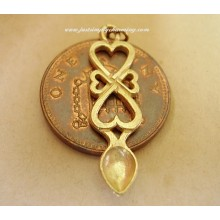 9ct 9k Gold Welsh Lovespoon charm