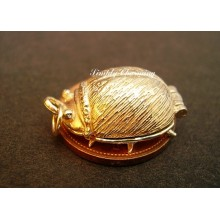 Beetle Opening 9ct Gold Charm