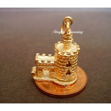 Bloody Tower 9ct 9K Gold charm