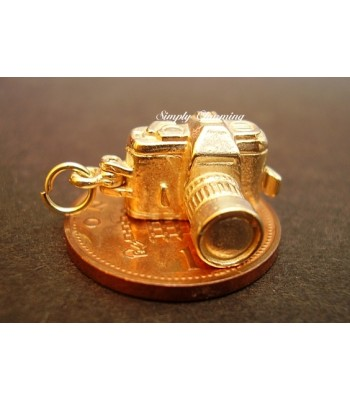 Camera Opening 14ct Gold Charm