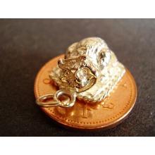 Cheshire Cat 9ct 9k Gold Charm