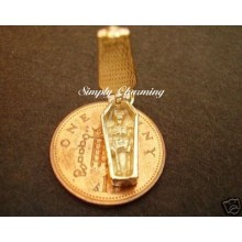 Coffin Opening 9ct Gold Charm