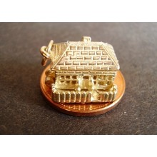 Country Cottage Opening 9ct Gold Charm