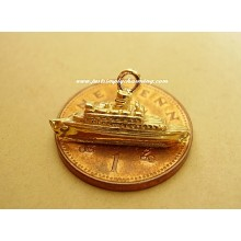 9ct Gold Cruise Liner Ship Charm