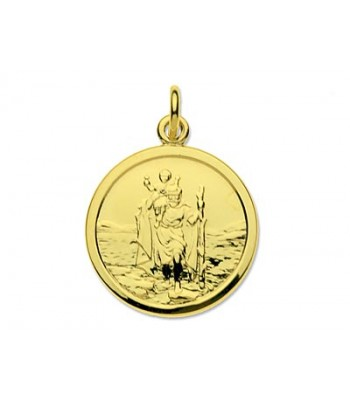 9ct Gold Round St Christopher