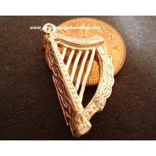Celtic Harp 9ct 9k Gold Charm