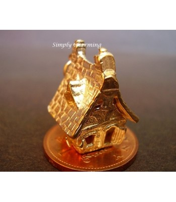 Haunted House Opening 9ct Gold Charm