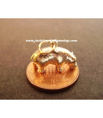 9ct 9k Gold Hippo Charm