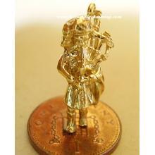 Scotsman Bagpiper 14ct 14k Gold Charm