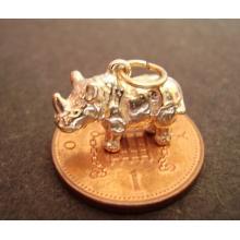 9ct 9K Gold Rhino Rhinoceros Charm