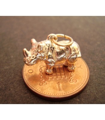 9ct 9K Gold Rhino Rhinoceros Charm