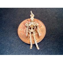 Skeleton Moving 9ct Gold Charm
