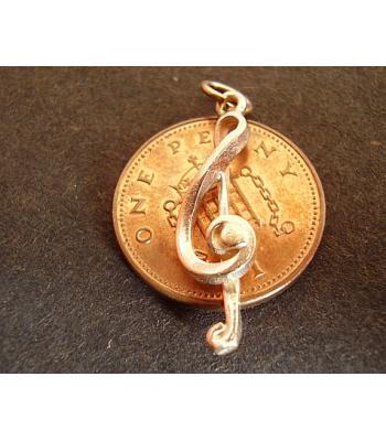 9ct 9k Gold Treble Clef Charm