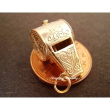 Whistle Opening 9ct Gold Charm
