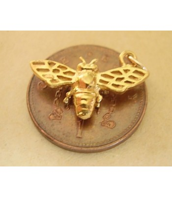 9ct 9k Gold Bee Charm