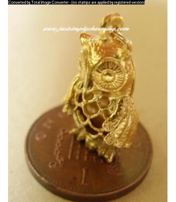 9ct 9k Gold Filligree Owl Charm