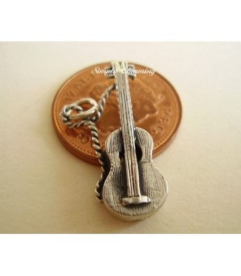 Sterling Silver Charms - Acoustic Guitar Charm