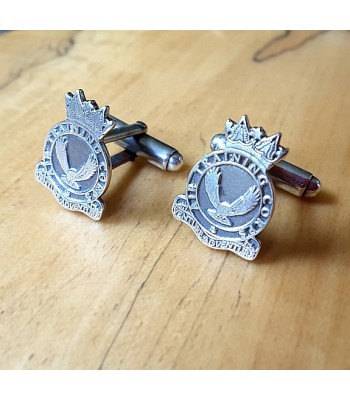 Sterling Silver Air Training Corps British Army Cufflinks