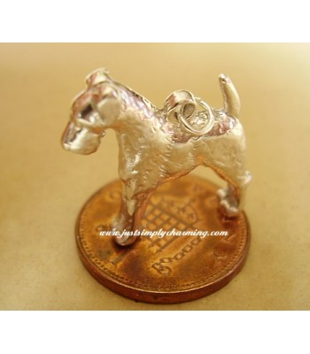 Airdale Terrier Sterling Silver Charm