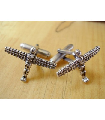 Sterling Silver Angel Of The North Cufflinks