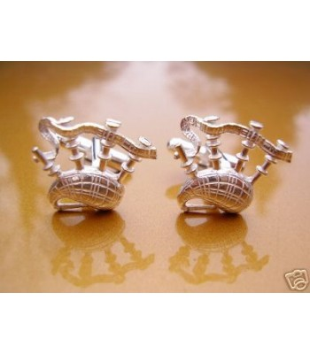 Sterling Silver Bagpipes Cufflinks