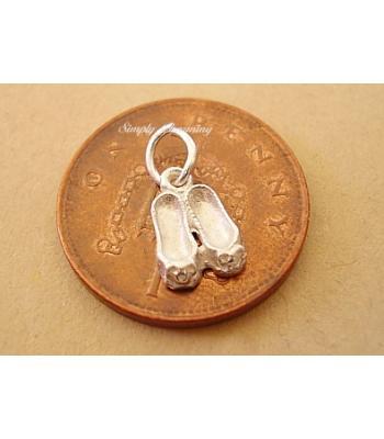Miniature Ballet Shoes Silver Charm