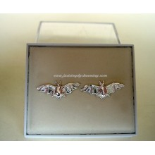 Sterling Silver Bat Stud Earrings