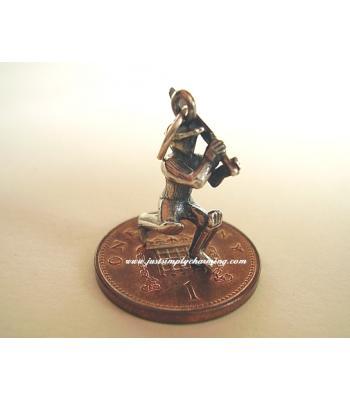 Cricketer Batsman Sterling Silver Charm