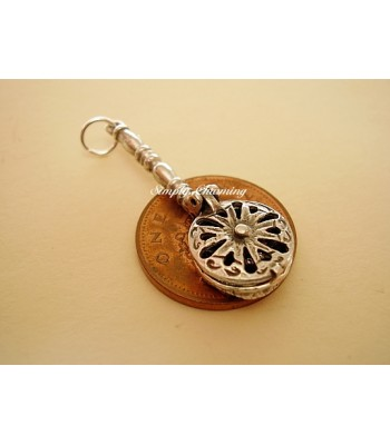 Sterling Silver Charms - Bed Pan Opening Charm
