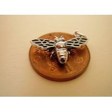 Miniature Bee Silver Charm