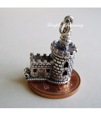London Bloody Tower Opening Sterling Silver Charm