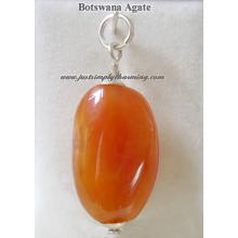 Semi Precious Botswana Agate Sterling Silver nugget charm