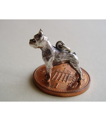 Boxer Dog Sterling Silver Charms