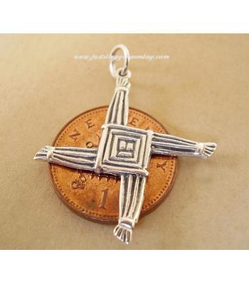 St Brigids Cross Sterling Silver Charm Pendant