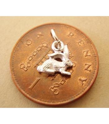 Miniature Bunny Rabbit Silver Charm