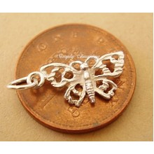 Miniature Butterfly 9ct Gold Charm