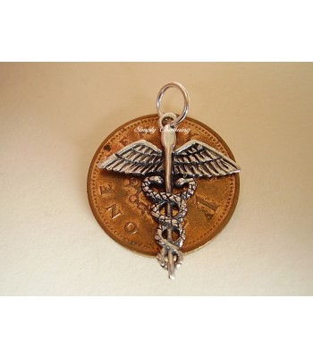 Caduceus Sterling Silver Charms / Pendant