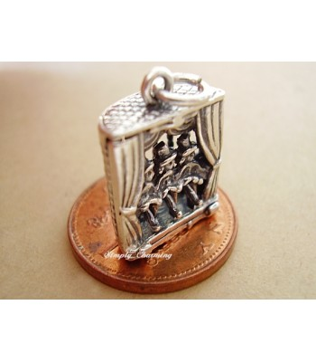 Can Can Girls Moving Legs Sterling Silver Charm