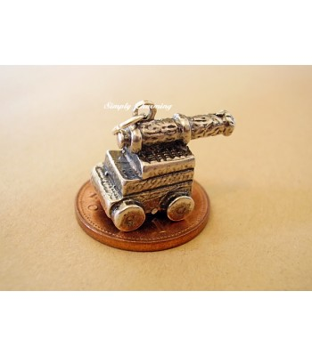 Cannon Sterling Silver Charms