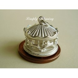 Fairground Carousel Rotating Sterling Silver Charm